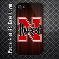 Nebraska Cornhuskers Logo Custom iPhone 4 or iPhone 4S Case