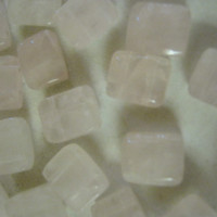 Rose Quartz Two Hole Beads
