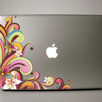flower Macbook Decal Funkadelic macbook pro by williamandcindy
