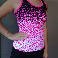 Medium Black Pink Tennis Exercise Tank Top