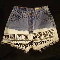 Made to Order: High Waisted Tribal Print Shorts