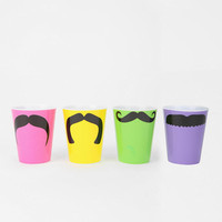 Mustache Shot Glass - Set Of 4