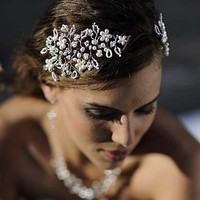 vine pearl and crystal jewelled headdress by hermione harbutt | notonthehighstreet.com