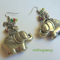 Ellie The Golden Elephant Dangle Earrings
