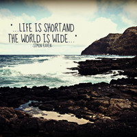 LIFE IS SHORT  Art Print by Tara Yarte  | Society6