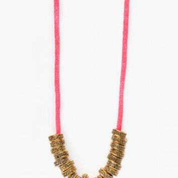 Firefly Necklace - Neon Pink - NASTY GAL