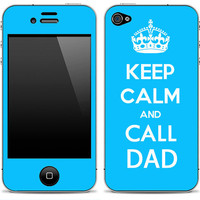 Keep Calm and Call DAD iPhone 4/4s Skin FREE SHIPPING