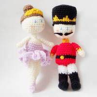 Amigurumi Pattern - Nutcracker & Sugar Plum Fairy - Crochet Pattern -
