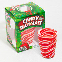 Candy Cane Shot Glass