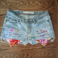 Floral Distressed Shorts