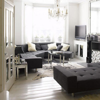 deep grey apartment interior