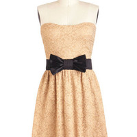 Center Beige Dress | Mod Retro Vintage Dresses | ModCloth.com