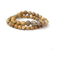 Stretch Bracelets - Beaded Earthy tones Bracelet by JP with Love