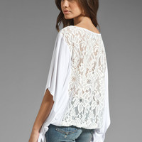 VAVA by Joy Han Skyler Lace Back Top in White from REVOLVEclothing.com