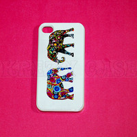iphone 4 Case, iPhone 4s case Elephant Pair iPhone 4 Cases, Iphone 4s Cover,Case for iPhone 4
