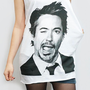ROBERT Downey Jr Shirt Iron Man Shirt Tank Top Women Shirt Tunic Top Sleeveless Singlet White T-Shirt Sleeveless Screen Print Shirt Size M