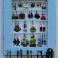 Jewelry Display Organizer Rack / 30 - 40 Earrings / 10 - 20 Necklaces