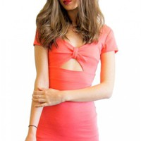 Cross Bow dress in coral  | Show Pony Fashion online shopping