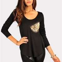 Madona Spiked Long Sleeve - Black at Necessary Clothing