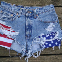 American Flag Shorts (Custom Made)