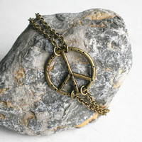 Peace Bracelet with Double Chain