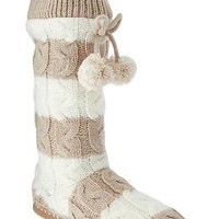 Women's Pom-Pom Sweater Slipper Boots | Old Navy
