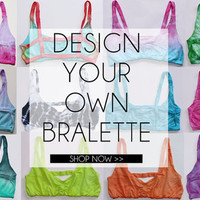 Design Your Own Bralette - with Padding