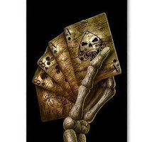 Personalized Death Poker Skeleton Hand iPhone 4 Case, iPhone 4s Case, iPhone 4 Hard Cover, iPhone Case-plastic Iphone case