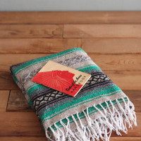 Vintage Serape Saddle Woven Mexican Native Blanket