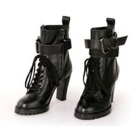 Black Hunter Lace Up Boots