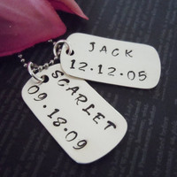 Dog Tag-Personalized Jewerly-Hand Stamped Jewelry-Childrens Necklace-Charm