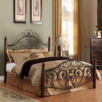 Madera Deco Scrollwork Queen Size Metal Bed | Overstock.com