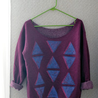 Large Womans Purple Sweater