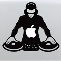 DJ mac sticker mac decal  Mac Book Mac Book Air Mac Book Pro Mac Sticker Mac Decal Apple Decal Mac Decals