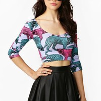 Jungle Cat Crop Top