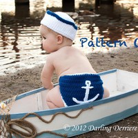 Anchor Diaper Cover, Sailor Hat, An.. on Luulla
