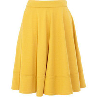 Ochre circle ponte skirt