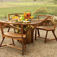 Oakville Table & Benches - NapaStyle