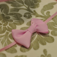 simple grosgrain bow baby headband by sadiebirdsboutique on Etsy