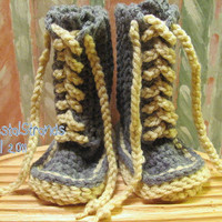 Buggs Boy/Girl Crocheted Ugg Inspired Lace by mycrystalstrands