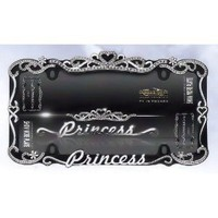 Princess Crown Crystal/Diamond Bling License Plate Frame : Amazon.com : Automotive