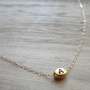 Gold necklace with initial charm any letter by OliveYewJewels