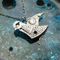 Clockwork Bird Pendant Flutter Bird Not Quite by amechanicalmind