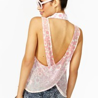 Draped Across Blouse - Floral