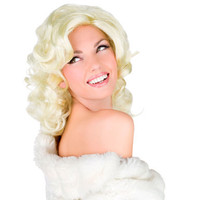 Blonde Bombshell Wig - Silver Screen Movie Star Womens Halloween Costume Wig