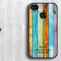 iphone 4 case iphone 4s case iphone 4 cover colorized wood texture blue purchase Iphone Logo design printing