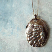 "Guardian Angel Wing Necklace. Inscribed ""Ask, Believe, Receive."" Fine Silver Pendant. Sterling Silver Chain. Artisan Jewelry"
