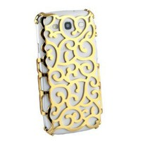 Gold Electroplating Hollow Pattern Hard Case for Samsung Galaxy S3