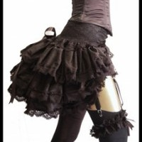 LADY LOVECRAFT Silk De Luxe Burlesque Steampunk Gothic Bustle - Lovechild Boudoir