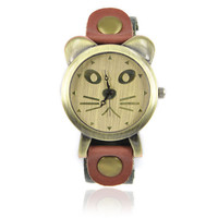 Handmade Cat Leather Watch on Luulla